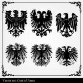 Eagle coat of arms heraldic — Stock Vector