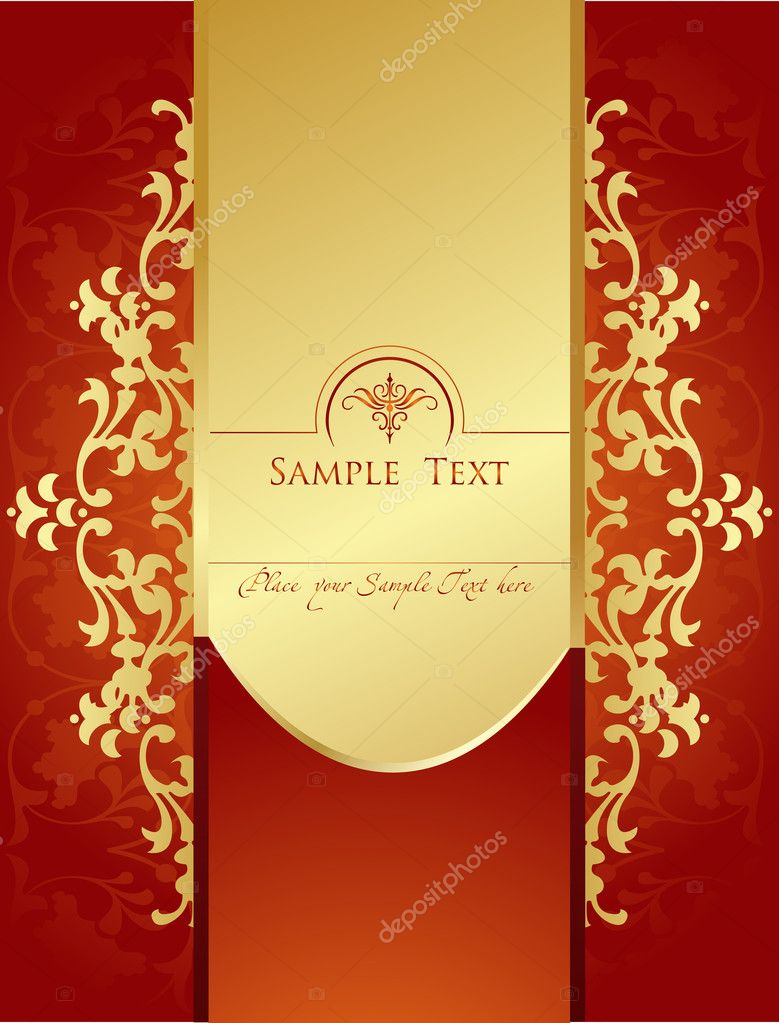 Vignette border vintage vector for poster — Stock Vector #4008748