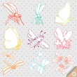 Cartoon insects vector background - Stock Vector