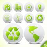 écologie éco icône bouton la valeur vector — Vecteur