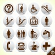 Icons set of service signs vector — Stock Vector #4042714