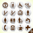 Icons set of service signs vector - Stock Vector