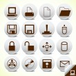 Royalty-Free Stock Vector Image: Office icon button vector set