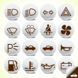 Car and accessories icon button set vector - Image vectorielle