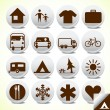 Recreation and camping signs vector icon stickers — Stock Vector