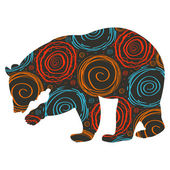 Bear colorful vector background — Stock Vector