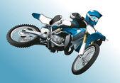 Moto jump background vector sport extrême — Vecteur
