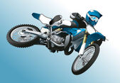 Motorcycle jump extreme sport vector background — Vecteur