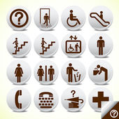Icons set of service signs vector — Vecteur