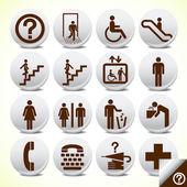 图标设置的服务标志矢量 — 图库矢量图片