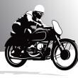 Motorcycle vector background — Stock Vector