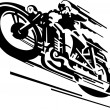 Motorcycle vector background - Stock Vector