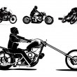 Motorcycle vector background - Stockvectorbeeld