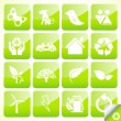 Ecology eco icon button set vector — Stock Vector #4090752