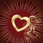 Red heart background vector — Stock Vector