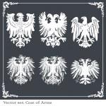 Eagle coat of arms heraldic — Stock Vector #4090798