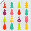 Colorful set of spruce tree vector — Image vectorielle