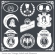 Stock Vector: Vintage labels set vector