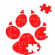 Royalty-Free Stock Vector Image: Animal track puzzle vector background