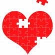 Puzzle heart, vector illustration background — Stock Vector #4097453