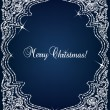 Stock Vector: Christmas Crystal frame border vector background