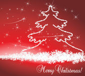 Christmas Background vector with eve tree decoration — Stock Vector