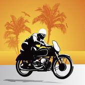 Motorcycle vector background — Stock Vector