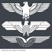 Orel znak heraldický — Stock vektor