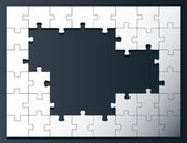 Puzzle vector background with copy space — Stock Vector