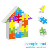 Puzzle Home vector — Stock Vector