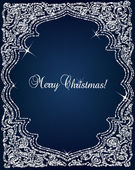 Christmas Crystal frame border vector background — Vecteur