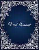 圣诞水晶框架边框矢量背景 — 图库矢量图片