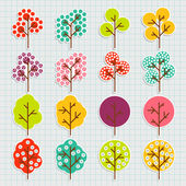 De fundo vector árvore colorida — Vetor de Stock