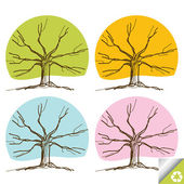 Colorful tree vector background — Stock Vector