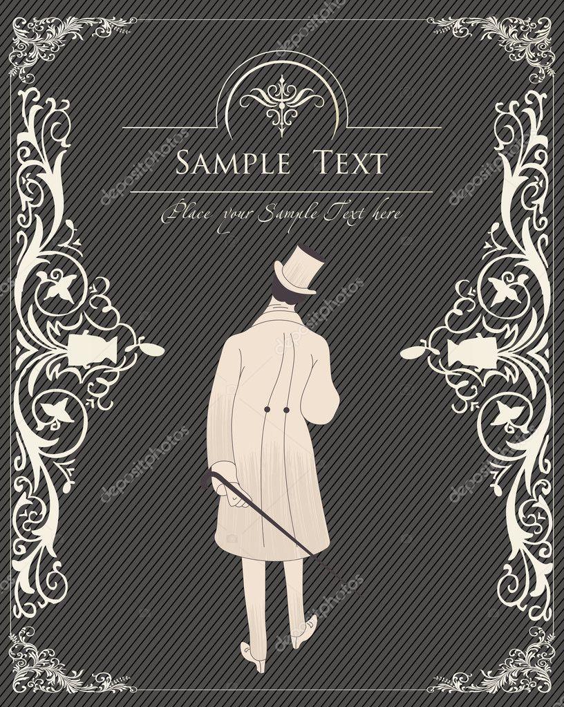 Vintage Book Cover Vector ~ Vintage fond pour vecteur de couverture livre — image