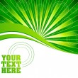 Vector green burst background — Image vectorielle