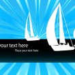 Royalty-Free Stock Vector Image: Yacht - sailing boat vector background