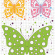 Silhouettes colorful butterflies vector - Stock Vector