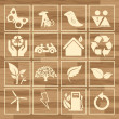Royalty-Free Stock Vektorfiler: Ecology eco icon button set vector