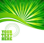 Vector green burst background — Stock Vector