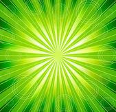 Vector green burst background — Stock Vector