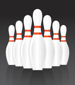 Vector bowling — Stock Vector