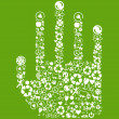 Royalty-Free Stock Vector Image: Hand green vector icon background concept made with buttons