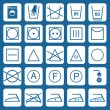 Royalty-Free Stock Vector Image: Vector washing security signs icons