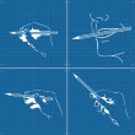 Hand writing, drawing vector blueprint — Stock Vector #4339272