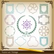 Vintage elements for frame or book cover, card — Stock Vector #4339375