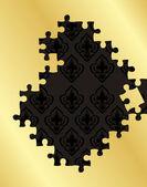 Puzzle vector background avec espace copie — Vecteur