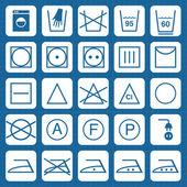 Vecteur lavage sécurité signe icônes — Vecteur