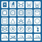 Vector washing security signs icons — 图库矢量图片