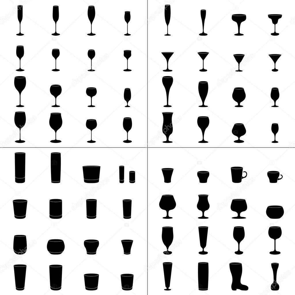 Bi re vin verre coupe set vector image vectorielle for Utiliser un coupe verre